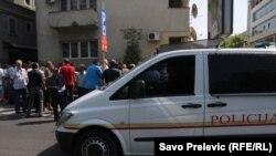 Bivši radnici Prerade Kombinata aluminijuma protestuju u Podgorici, 5. septembar 2011.