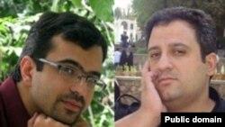علی اکرمی و مهدی افشارنيک(راست)، روزنامه نگار روز چهراشنبه بازداشت شدند