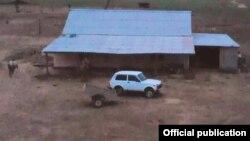 """Кадр из оперативной съёмки с чабанской точки, где якобы задержали """"астраханского террориста"""""""