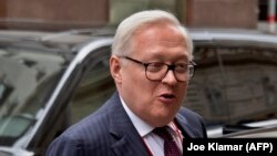 Russian Deputy Foreign Minister Sergei Ryabkov arrives for U.S.-Russia talks in Vienna on June 22.