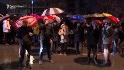 Protest opozicije u Skoplju