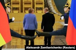 Канцлер Німеччини Ангела Меркель і президент Росії Володимир Путін. Москва, 20 серпня 2021 року