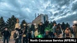 Акция в поддержку Навального в Армавире, 21 апреля 2021