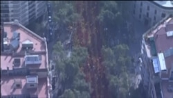 Каталония бәйсезлеге тарафдарлары урамнарга чыкты