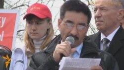 Митинг сторонников Жамбыла Ахметбекова