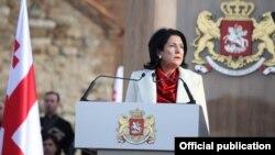 Саломе Зурабишвили на инаугурации. 16 декабря 2018 года.