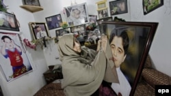 Nasra Zeb, mother of Hasan Zeb one of the 150 students and teachers killed during a militant attack at the Army Public School in the northwestern city of Peshawar in December 2014.