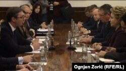 Aleksandar Vučić u razgovoru sa predsednicom Saveta federacije Federalne skupštine Rusije Valentinom Matvijenko