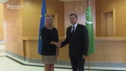EU's Top Diplomat Visits Turkmenistan