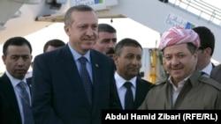 بارزاني و اردوغان - من الأرشيف