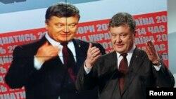 Петр Порошенко на брифинге в Киеве