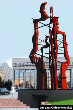 """Проект монумента Елены Бочаровой """"Разорванные судьбы"""""""