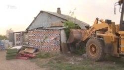 Снос «дома с портретами Назарбаева»