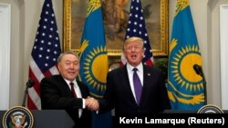 Donald Trump și Nursultan Nazarbaiev