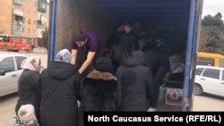 Сбор гуманитарной помощи погорельцам