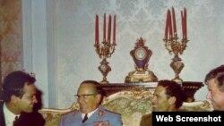Moammer Gadaffi and Josip Broz Tito