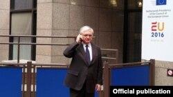 Министр иностранных дел Армении Эдвард Налбандян в Брюсселе, 23 мая 2016 г.