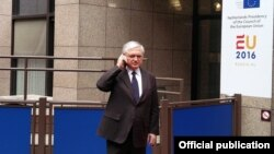Belgium -- Armenian Foreign Minister Edward Nalbandian visits Brussels, 23May2016