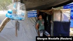 Yunanıstanın Samos adasında miqrant düşərgəsi