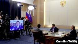 Путин дар расми ифтитоҳи тарҳи нави лӯлаи газ тавассути тамоси телевизионӣ иштирок кард