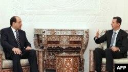نوری المالکی روز چهارشنبه در دمشق با بشار اسد دیدار کرد