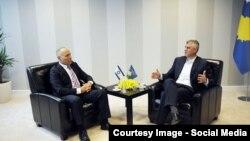 Kryediplomati i Kosovës, Hashim Thaçi në takim me Ambasadorin e Izraelit në Beograd, Yossef Levy