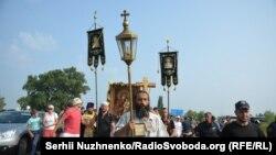 Хресна хода УПЦ (Московського патріархату). Околиця Борисполя, 25 липня 2016 року