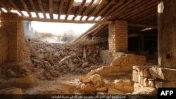 Кадр із відео, на якому видно, як бойовики руйнують монастир у Сирії, 21 серпня 2015 року