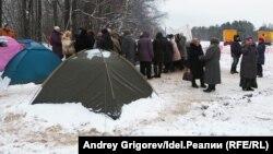 Лагерь противников строительства МСЗ под Казанью