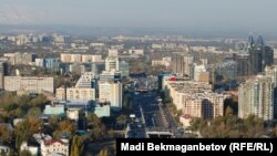 Көктөбеден қарағандағы Алматы қаласының көрінісі. (Көрнекі сурет).