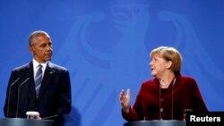 Barack Obama i Angela Merkel na press konferenciji u Berlinu 17. novembra 2016.