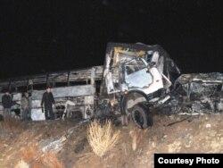 Авария на трассе Алматы-Екатеринбург, в которой погибло 11 человек. Карагандинская область, 13 октября 2010 года.