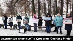 Митинг за строительство приютов и против вольерной охоты 19 января