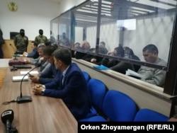 Суд над обвиняемыми в совершении террористических преступлений, вывезенными с Ближнего Востока. Нур-Султан, 11 декабря 2019 года.