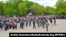 Луганск шаҳридаги россияпарастлар.