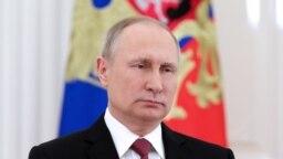 Vladimir Putin mart seçkisindən sonra çıxış edir