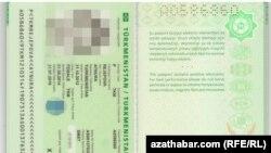 Gadaganlyk möhri basylan türkmen pasporty.