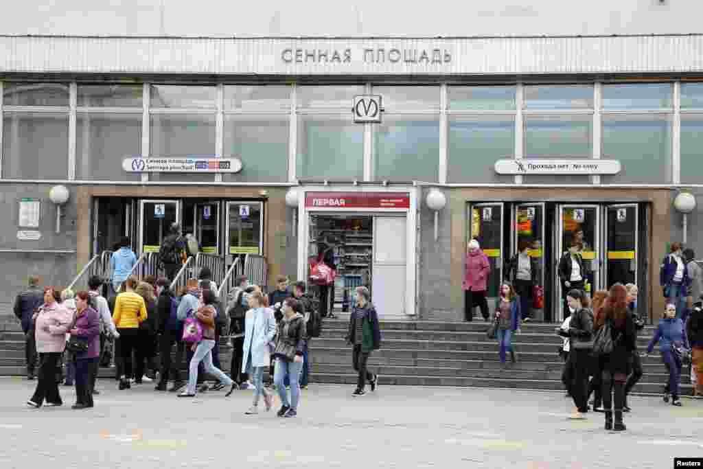 """Станция метро """"Сенная площадь"""" (архивное фото)."""