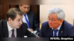 Министр экономики Артем Новиков и председатель ГТС Кубанычбек Кулматов.