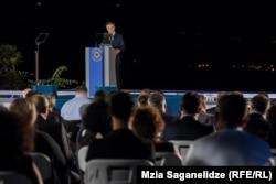 Бідзіна Іванішвілі виступає під час презентації кандидатів на парламентських виборах від «Грузинської мрії». 11 вересня 2020 року