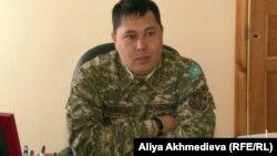 Жандарбек Тулеуов, заместитель командира части 74/261. Алматинская область, 24 апреля 2013 года.