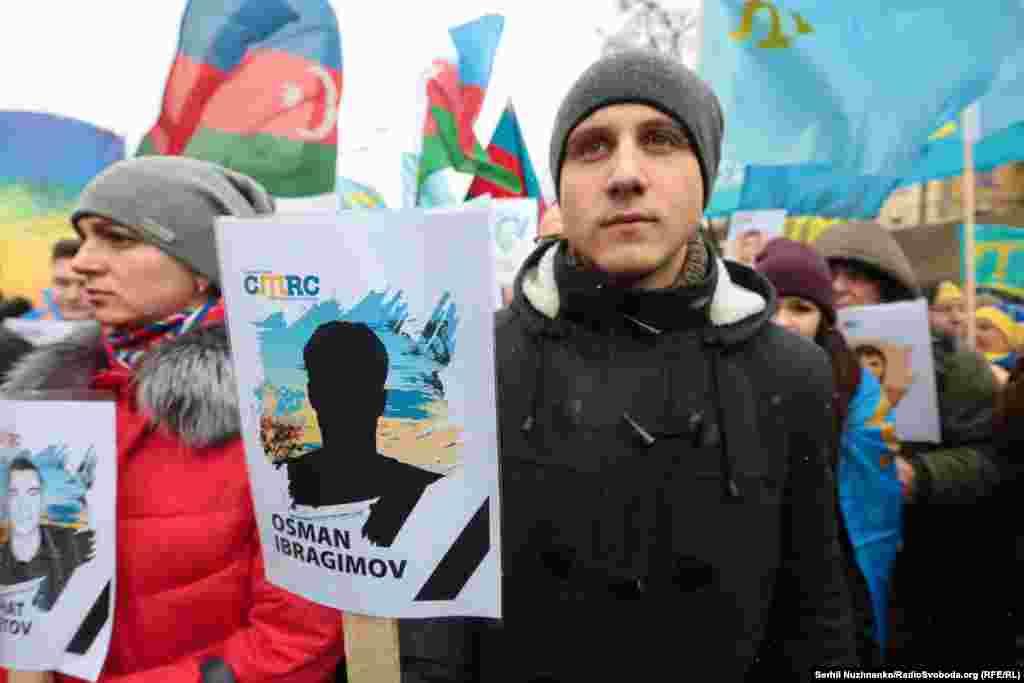 Ukrainada «Qırımnıñ Rusiye işğaline qarşılıq kösterme künü» qayd etile, 2017 senesi fevral 26 künü