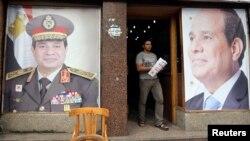 Qahirədə prezident Abdel Fattah al-Sisi-nin portretləri - 2014