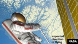 Гольф на орбите. Реконструкция NASA.