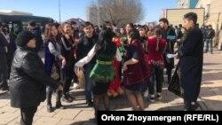 La o demonstrație de protest a studenților la Astana