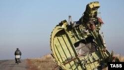 Уламки пасажирського літака в Донецькій області