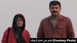 بهمن احمدی امویی و همسرش ژیلا بنییعقوب