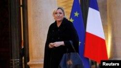 Лидер французской правой партии «Национальный фронт» Марин Ле Пен