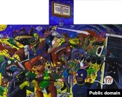 Олекса Манн. Кінець епохи мультикультурності, або масовий безлад у Лондоні, 2011, полотно, акрил