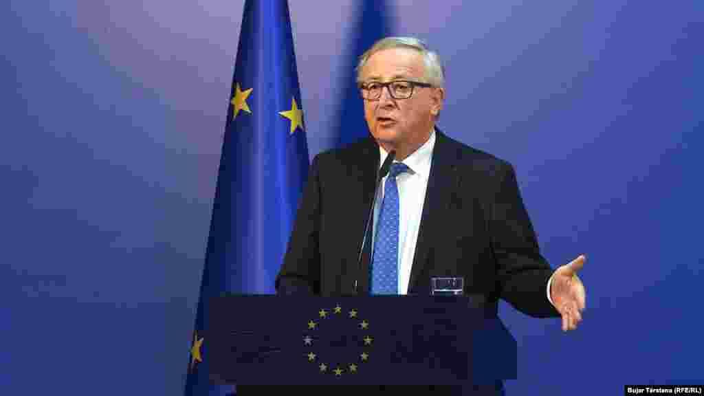 БЕЛГИЈА - Шефот на Европската комисија Жан Клод Јункер изјави дека Европската унија има потреба да прими нови членки од Западен Балкан со цел да се избегне ризик за нова војна во регионот.